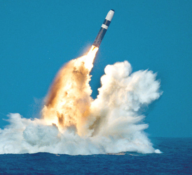 Trident missile shoot